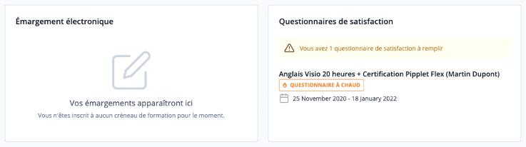 Emargement & Questionnaire