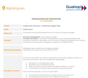 programme personnalisé par visioconférence