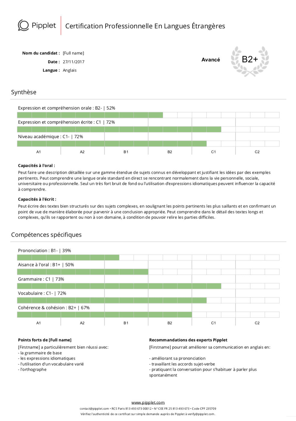 Pipplet, une validation de compétences rapide et efficace